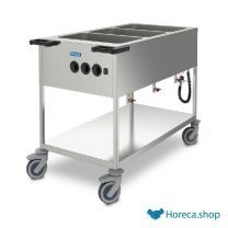 Voedseluitschepwagen met folieverwarming