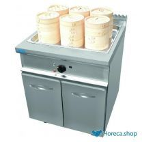 Dim sum steamer with cabinet model l7/dse400bc